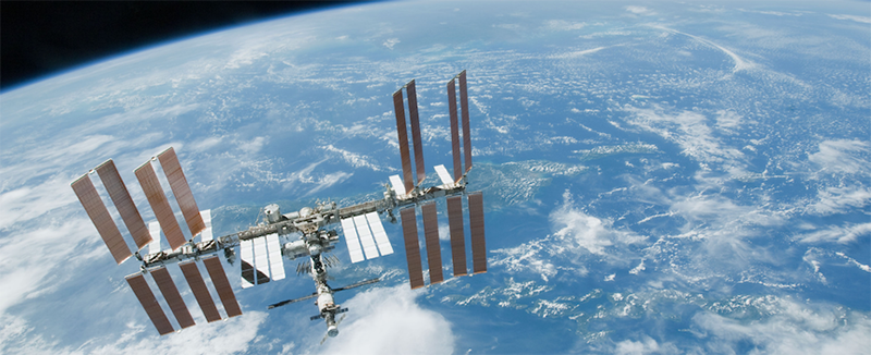 2. ISS Over Earth