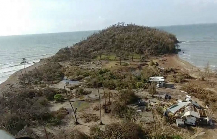 Cayo Santiago Island after Hurricane Maria