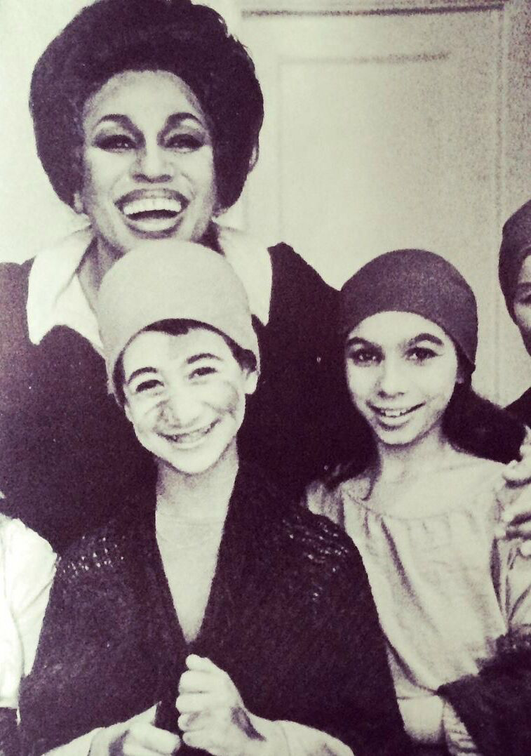 Lara Downes with sister and Leontyne Price