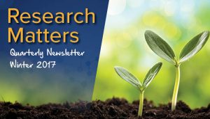 Research Matters Quarterly Newsletter Winter 2017