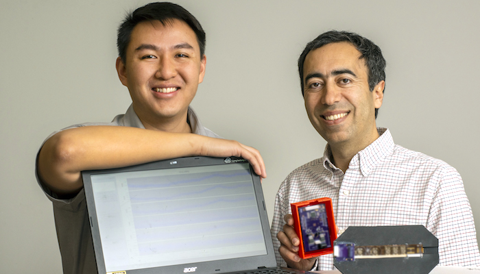 Daniel Fong (left) an electrical and computer engineering Ph.D. student, and Soheil Ghiasi (right), a professor of electrical and computer engineering.