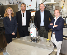 UC Davis milk lab researchers (left to right) Daniela Barile, Carilto Lebrilla, David Mills and Bruce German